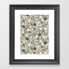 Flourishing Florals (Light-Green) Framed Art Print