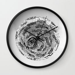 there is something in grey Wall Clock