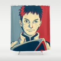 naruto Shower Curtains featuring Naruto - Hokage by KingSora