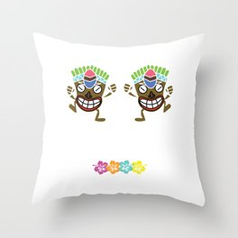 Designed for trendy, fun loving people who love Hawaiian art and love go out on a beach Tee HAWAIIAN Throw Pillow
