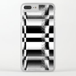 Black and White Abstract Structure Clear iPhone Case