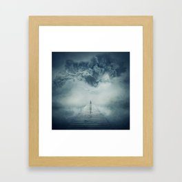 into the storm Framed Art Print