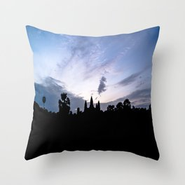 Angkor Wat at Sunrise I, Cambodia Throw Pillow