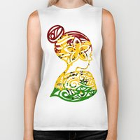 rasta Biker Tanks featuring Rasta Lady by Lonica Photography & Poly Designs