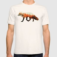Norwegian Woods: The Fox Mens Fitted Tee MEDIUM Natural