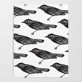 Paper Bird Cutout Poster