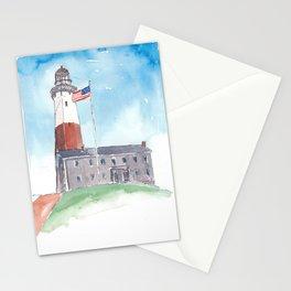 Montauk Lighthouse Long Island New York Stationery Cards