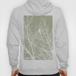 White Bird in White Tree - Moss A593 Hoody