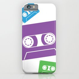 Abstract Retro Vintage Cassettes iPhone Case