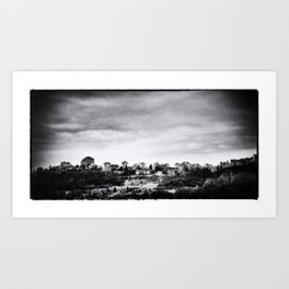 Up the Hills, Past the Cities Art Print