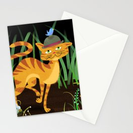 Mister Kitty And His Bird Friends Stationery Cards