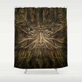 The Green Man Shower Curtain