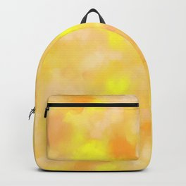 Yellow Liquid Gold Marble Abstract Backpack
