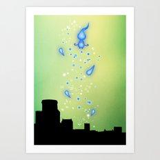 Pixar Brave Castle Print with Whisp Art Print