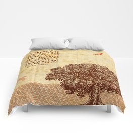 Strength Beautiful Earth Rustic Birds Comforters