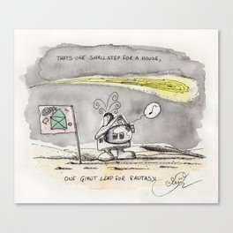 House on the moon Canvas Print