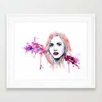 lydia martin Framed Art Prints featuring Lydia Martin by Sterekism