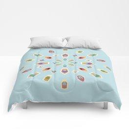 "Mandala ""Abstracted Boats"" Comforters"