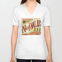 nashville V-neck T-shirts featuring Nashville by Mary Kate McDevitt