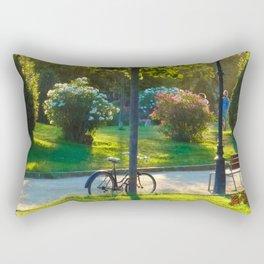 Bicycle at Barcelona Rectangular Pillow