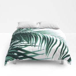 Palm Leaves Green Vibes #8 #tropical #decor #art #society6 Comforters