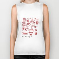 kitchen Biker Tanks featuring kitchen vintage by flying bathtub