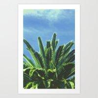 "palm tree Art Prints featuring Palm TreE  by ""CVogiatzi."