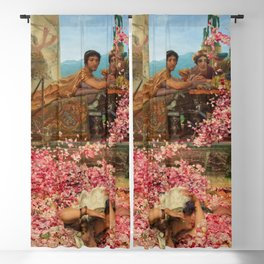 1888 Classical Masterpiece 'The Roses of Heliogabalus' by Sir Lawrence Alma-Tadema Blackout Curtain