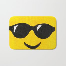 Sunglasses - Emoji Minifigure Painting Bath Mat
