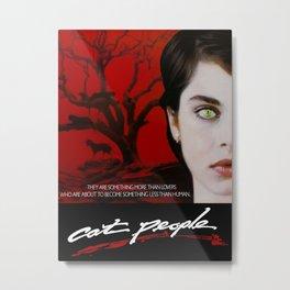 Cat People Metal Print