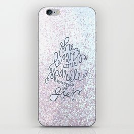 She Leaves A Little Sparkle -  Sparkle BW iPhone Skin