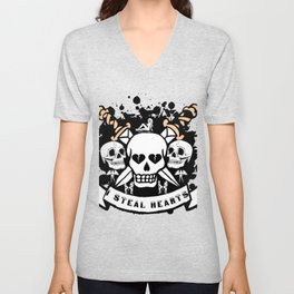 I Steal Hearts Unisex V-Neck