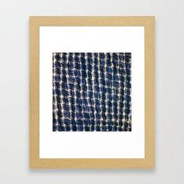 Macrame Square Knots: Colbalt-Blue Version Framed Art Print