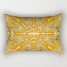 Gold Opal Star Mandala Rectangular Pillow