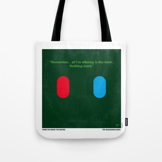 No093 My The Matrix minimal movie poster Tote Bag