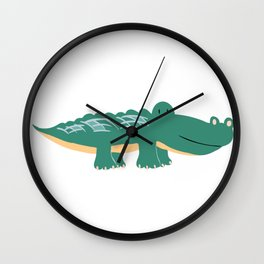Alligator - Crocodile Wall Clock