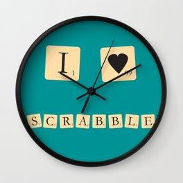 I heart Scrabble Wall Clock