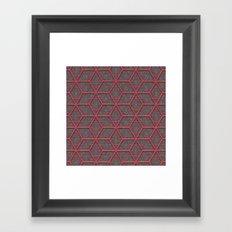 Gridlines Framed Art Print