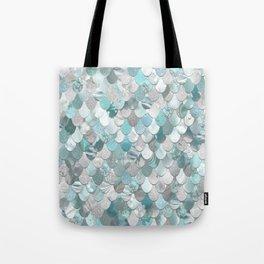 Mermaid Aqua and Grey Tote Bag