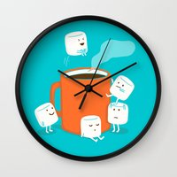 budi satria kwan Wall Clocks featuring Cannonball by Picomodi