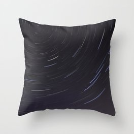 Moving night stars Throw Pillow