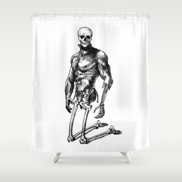 Pietro 2 - Nood Dood Spooky Booty Shower Curtain