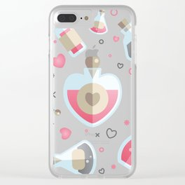 Brew Me A Love Potion Clear iPhone Case
