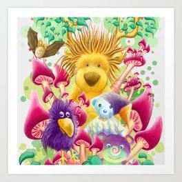 Moka, the magic lion Art Print