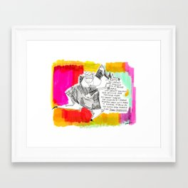 Thought for the day Framed Art Print
