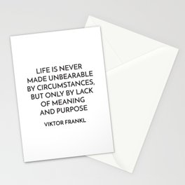 VIKTOR FRANKL QUOTE - MEANING AND PURPOSE Stationery Cards
