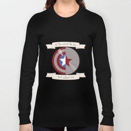 Steve Rogers and Bucky Barnes Shield Long Sleeve T-shirt