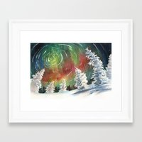 northern lights Framed Art Prints featuring Northern Lights by Dana Martin