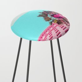 LA Palm Tree Look Up Counter Stool