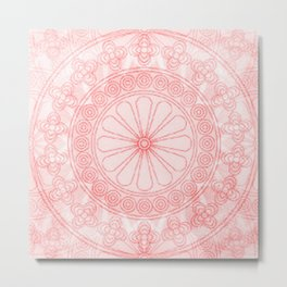 Mandala rose Metal Print